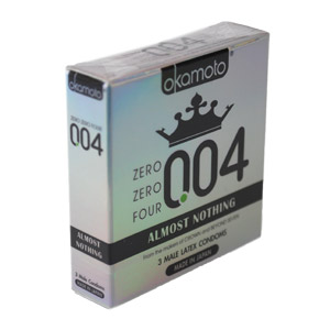 Okamoto .004 Thin Condoms 3ct