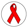 AIDS Red Ribbon round label