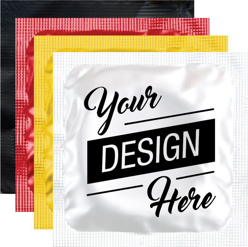 d520363ba Custom Print Condom! Create Your Design or Message on the Condom Foil!  choice of White, Gold, Red, or Black foils.