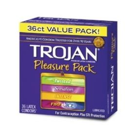 Trojan Pleasure Pack Lubricated Condoms 36ct box