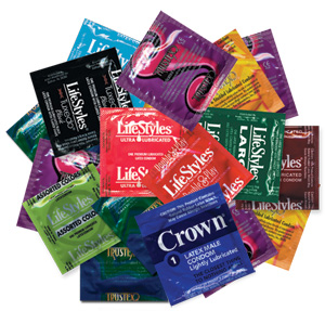 Condom Assortment Sampler 128