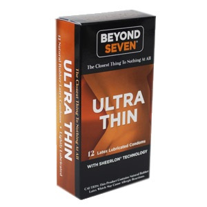 Beyond Seven Ultra Thin Condoms 12ct