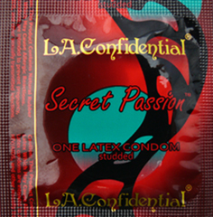 LA Confidential<br>Secret Passion Condoms<br>by Caution Wear<br>(1000/case)