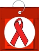 AIDS Awareness Ribbon Carnival Condom Beads (Assorted Colors beads)