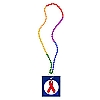 AIDS Awareness Ribbon Rainbow Carnival Condom Beads (SPECIAL ORDER ONLY)
