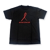 Aids Awareness Red Ribbon T-shirt Black - Men's