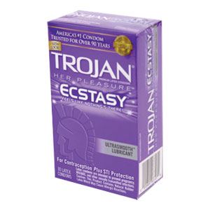 Trojan Her Pleasures Ecstasy Condoms (10 Packs)
