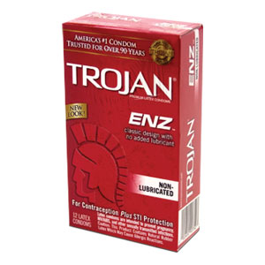 Trojan ENZ Non-Lubricated Condoms (12 Packs)