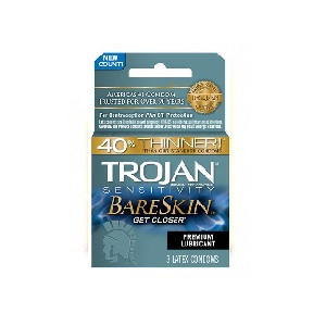 Trojan Bareskin Lubricated Condoms 3ct box