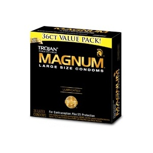 Trojan Magnum Lubricated Condoms 36ct box