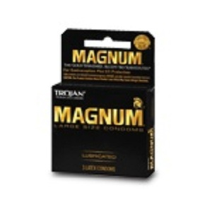 Trojan Magnum Lubricated Condoms 3ct