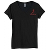 Aids Awareness Red Ribbon T-shirt Black - Women's