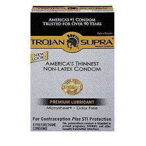 Trojan Supra BareSkin Polyurethane Condoms (6 packs)