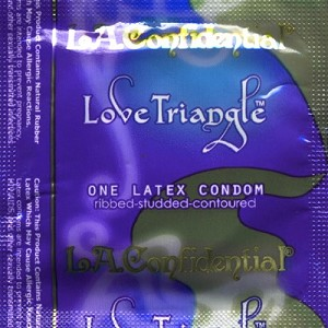 LA Confidential<br>Love Triangle Condoms<br>by Caution Wear<br>(1000/case)