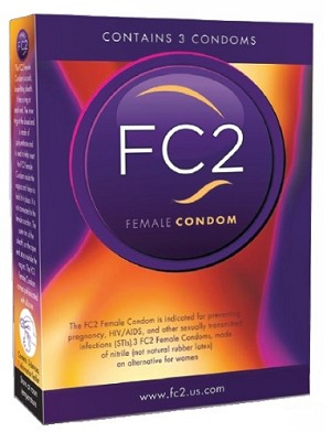 FC2 Female Condoms 3pack retail box #271594