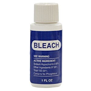 FILLED BLEACH BOTTLES -1oz Bottles filled with Bleach with warning label