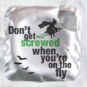"Halloween ""Don't get screwed when you're on the fly"" Lubricated Condom (150/box)"