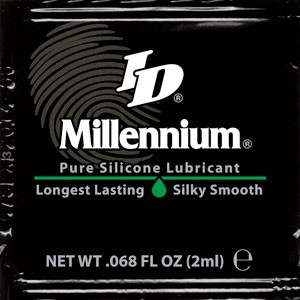 ID Millennium Silicone Lubricant 2ml Foils (500/case)<br><BR>WEB SPECIAL FOR NON-PROFIT AND GOV BUYERS ONLY