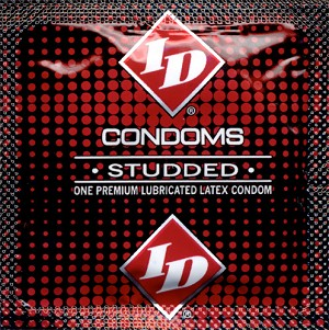 ID Studded Lubricated Condoms<br>(144 /bag or jar)