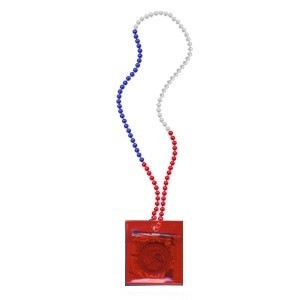 RED,  WHITE and BLUE Carnival Condom Beads (Unlabeled) (36/box)