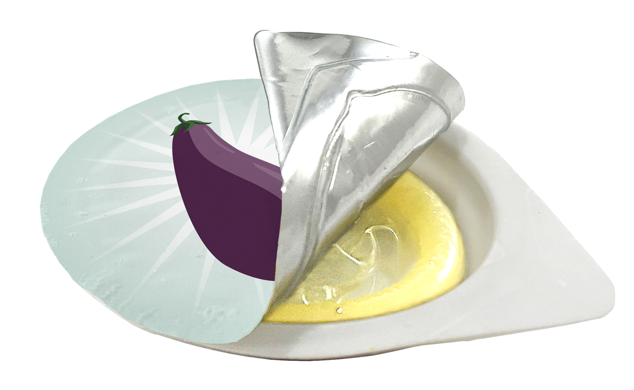 Custom Print Condoms<br>Condom Pod<br>Easy Open Buttercup Condom<br>Design Your Own!