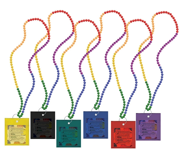 RAINBOW Carnival Condom Beads (Unlabeled) (not available in California)