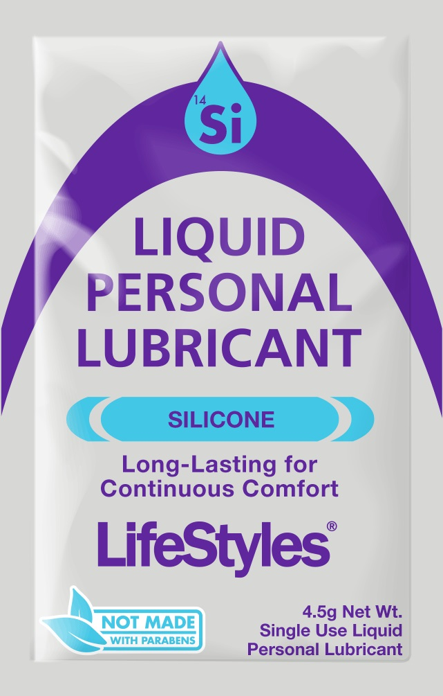 Lifestyles Silicone<br>Liquid Personal Lubricant<br>4.5g foil (1000/case)