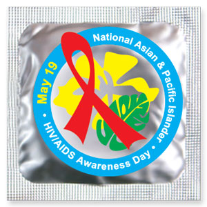 National Asian & Pacific Islander HIV/AIDS Awareness Day Condoms (May 19)