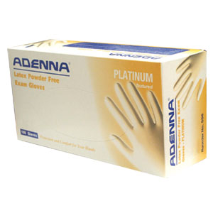 Adenna Platinum - Latex gloves, powder free textured glove surface