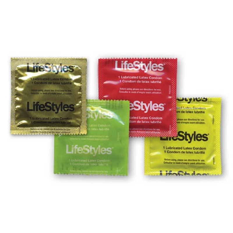 LifeStyles Assorted Lubricated Condoms<br>(1008/case)