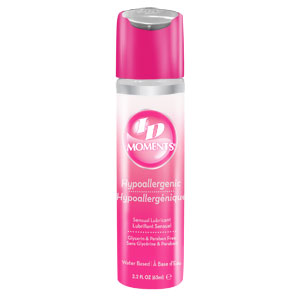 ID Moments Hypoallergenic Lubricant 2.2 oz Flip Cap Bottle