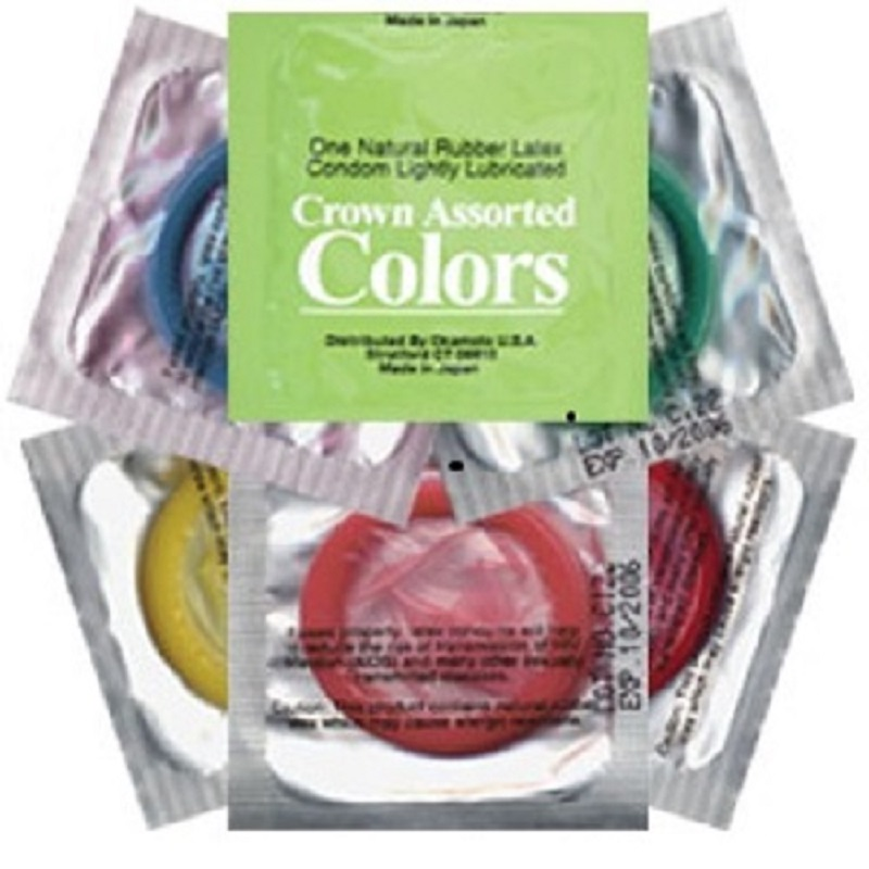 Crown Assorted Colors<br>Condoms (1008/case)