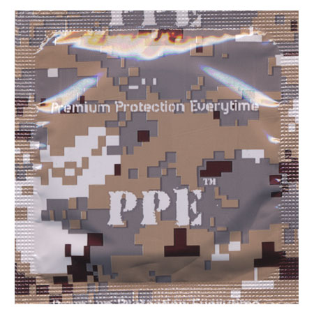 PPE Desert Camouflage Condoms