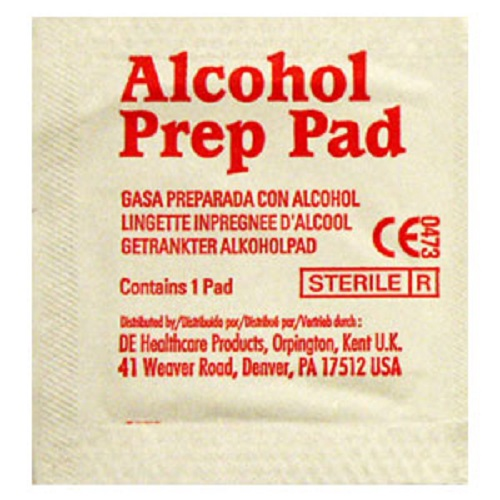 Alcohol Prep Pads<br>Sterile, Medium, 2 Ply<br>(200bx, or Master Case of 20 x 200bx)<br>Out of Stock