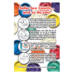 'Safer-Sex Counts and So Do You' Card
