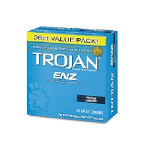 Trojan Enz Lubricated Condoms 36ct