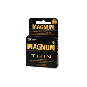 Trojan Magnum Thin Lubricated Condoms 3ct