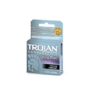 Trojan Sensitivity Ultra Thin<br>Lubricated Condoms 3ct<br>(bundle of 6)