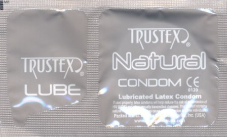 Trustex Paired Latex Condom+Lube