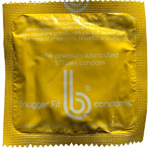 b Condoms<BR>Snugger Fit (1000/case)