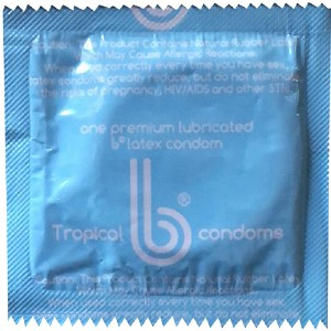 b Condoms<BR>Tropical Flavor (1000/case)