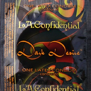 LA Confidential<br>Dark Desire Condoms<br>by Caution Wear<br>(1000/case)