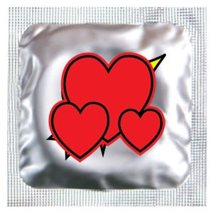Heart Labeled Condoms