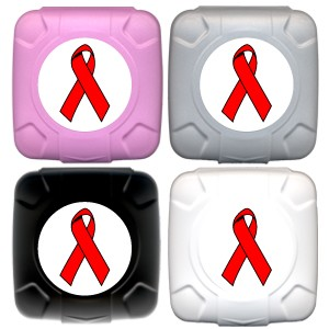Red Ribbon AIDS Awareness Condom Pal° Color Assortment