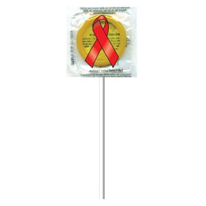 Red Ribbon AIDS Awareness Pleasure Pop™