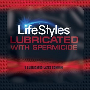 LifeStyles Spermicide Lubricated Latex Condoms<br>(1008/case)