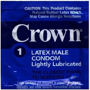 Crown Lubricated Condoms (1008/case)