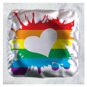Rainbow Hearts Assorted Colors Condoms
